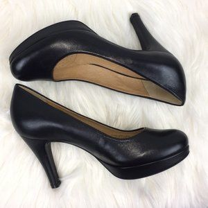 Nurture Kira Platform Heel Leather Shoes Size 7
